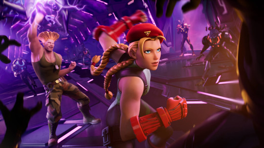 Guile and Cammy in Fortnite