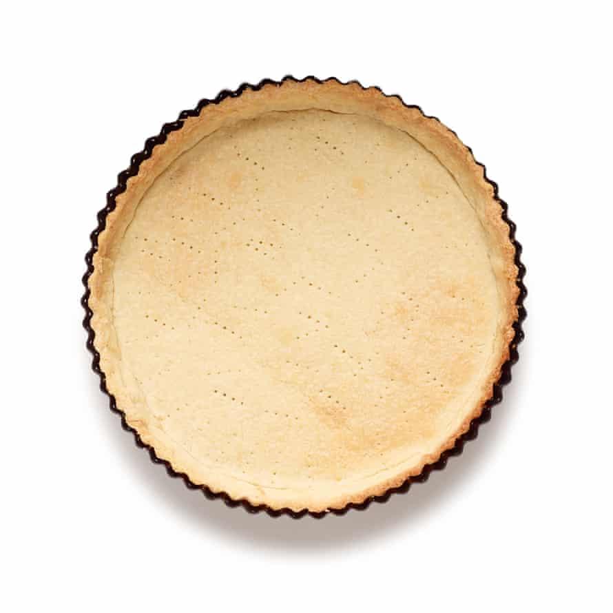 Felicity Cloake's apricot tart step 4 – blind-bake the tart case.