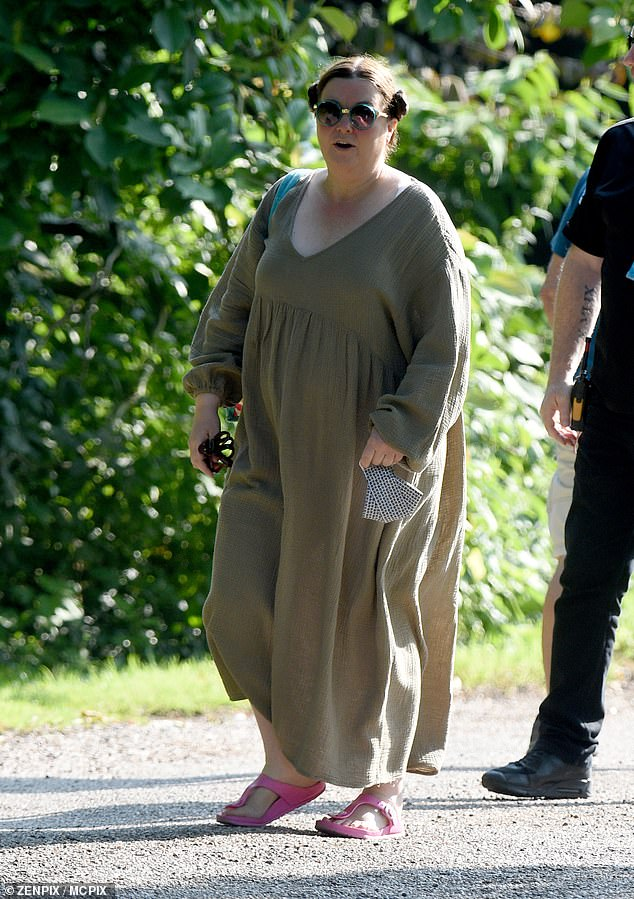 Floaty:Mary Taylor was first seen on set wearing a floaty khaki dress