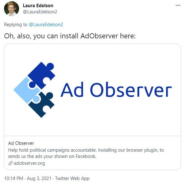 CFA says it doesn't gather personal information of people who download the Ad Observer extension, but Facebook claims the plug-in collects data about users who didn't install it and archived it offline.