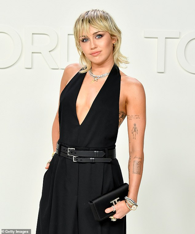 Olive branch:'As a proud and loyal member of the LGBTQIA+ community, much of my life has been dedicated to encouraging love, acceptance, and open mindedness,' began Cyrus, 28, in a letter published to Instagram on Wednesday; Miley pictured in 2020