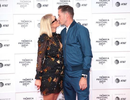 Paris Hilton and Carter Reum attend the This Is Paris premiere during the 2021 Tribeca Festival at Hudson Yards on June 20, 2021 in New York City