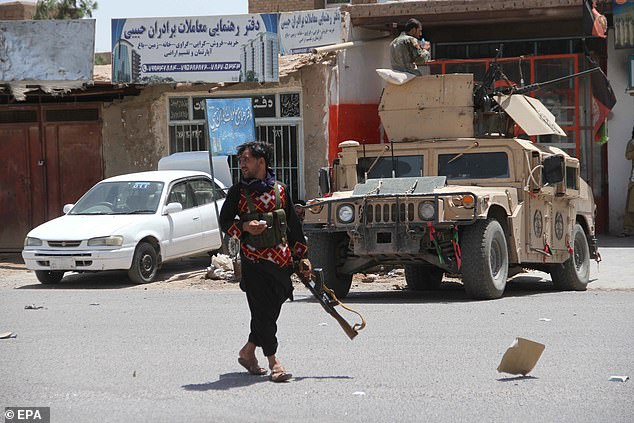 The Taliban is now fighting to take control of Kandahar city (pictured), one of three provincial capitals that have come under attack