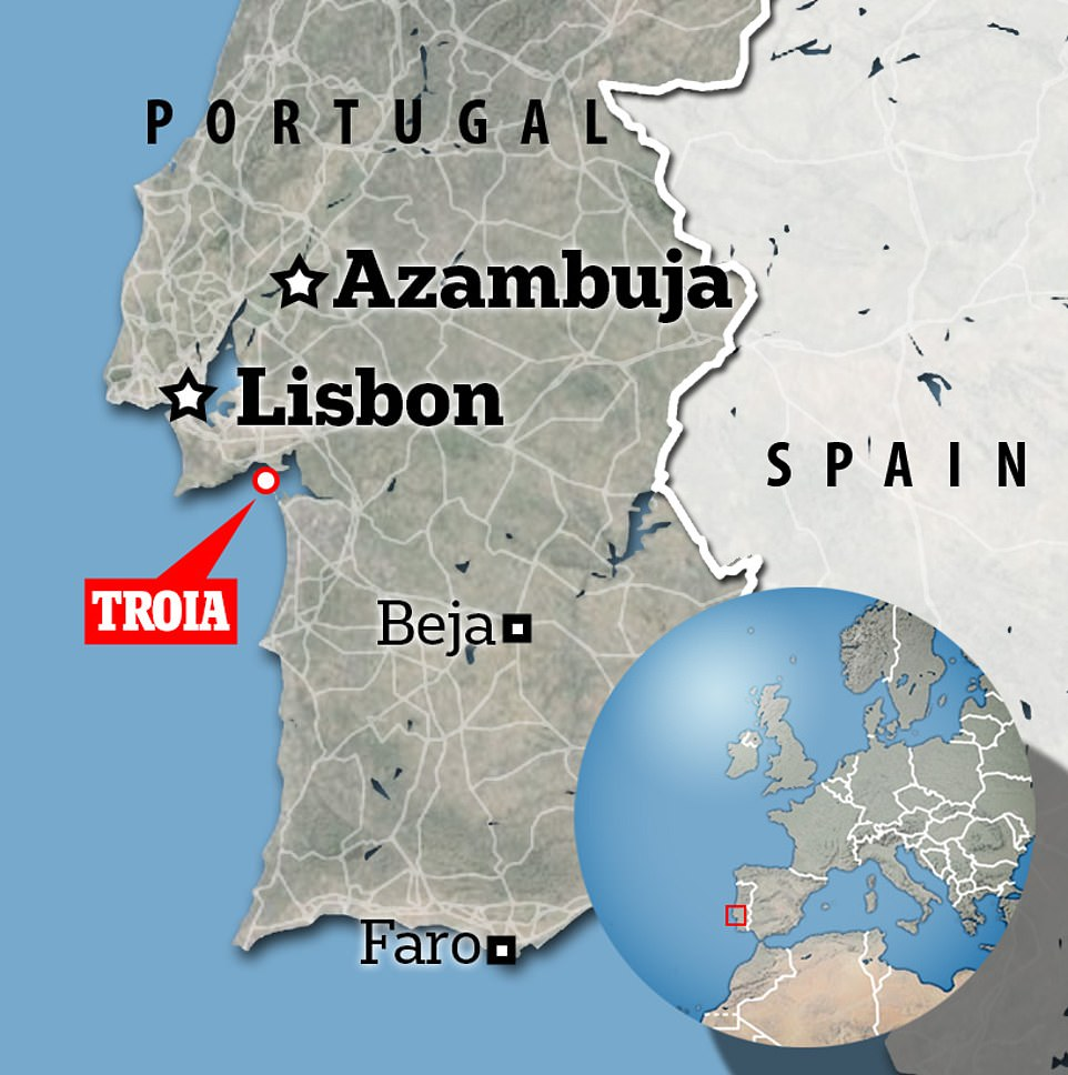 According to Portuguese media,the tragedy happened in Troia, a peninsular off the coast of Setubal just south of Lisbon