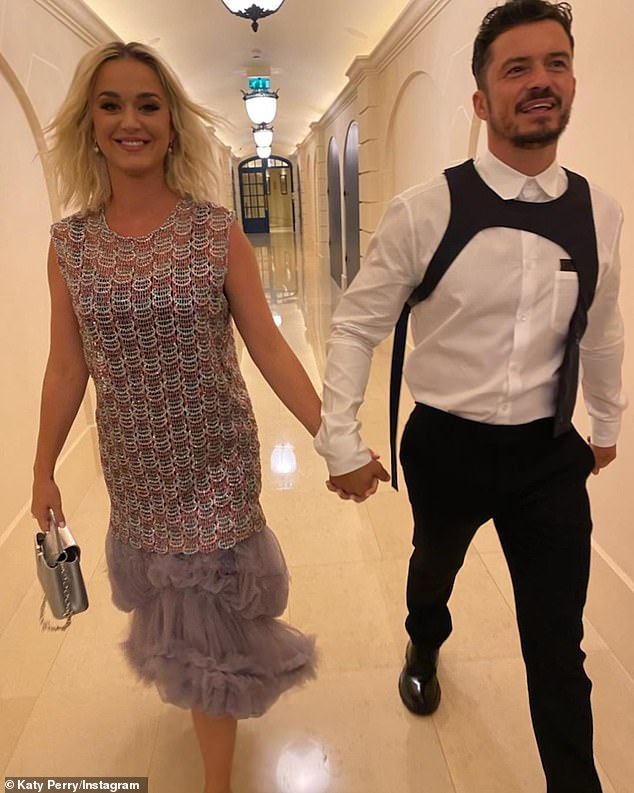 Family matters: Daisy is Perry's first child with fiancé Orlando Bloom, 44, and second for the Lord Of The Rings actor, who also has a 10-year-old son Flynn with ex-wife Miranda Kerr