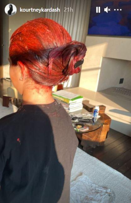 Kourtney Kardashian's daughter Penelope dyed her hair red