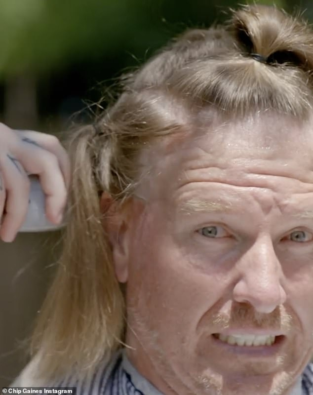 Chip in!The Magnolia co-owner shared his journey in a social media video that captured the process of going from long locks to bald head