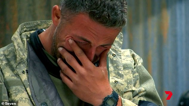 'I've lost it all': In promos for the upcoming series, the footy star breaks down in tears during an interrogation, and admits he 'lost respect' for himself when his marriage to Phoebe Burgess fell apart