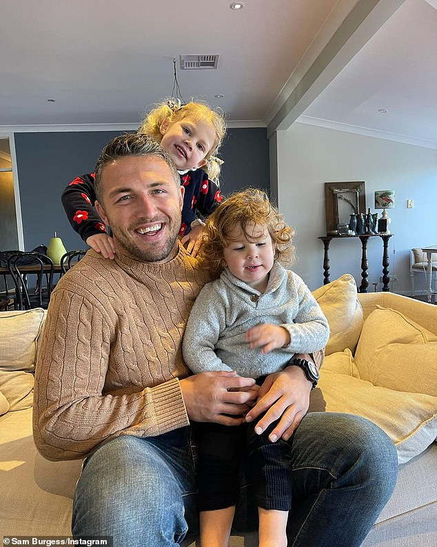 Doting father: The former couple share and co-parent their two children, daughter Poppy, four, and son Billy, two