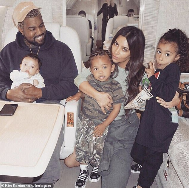 Family: The former couple share four children - daughter North, eight, son Saint, five, daughter Chicago, three, and son Psalm, two