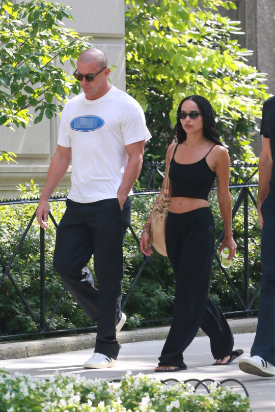 Zoe Kravitz seen taking a stroll with rumored beau Channing Tatum through Central Park