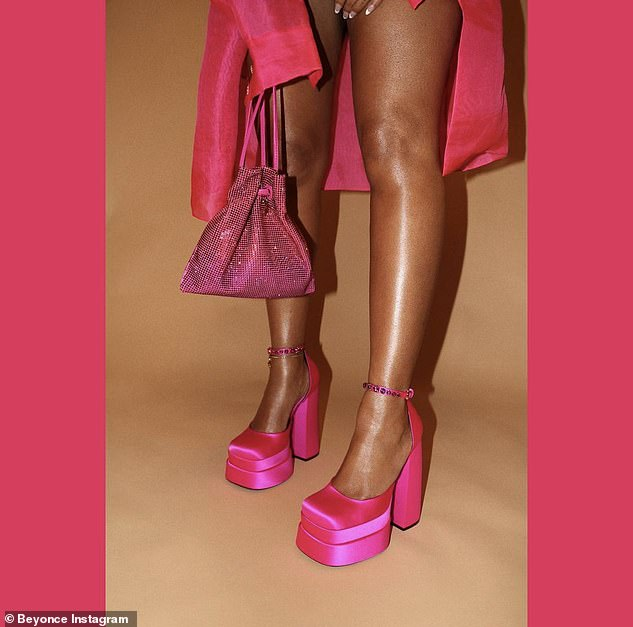 Flash: The star also showed off her shimmers legs in the photos