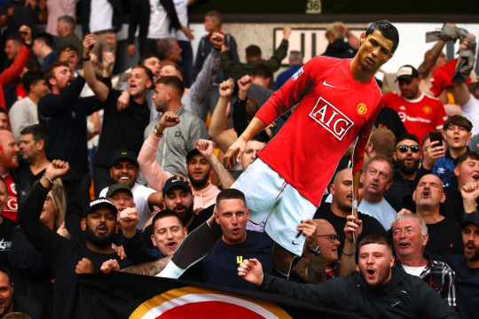 Manchester United paraded a cardboard cutout of Cristiano Ronaldo in the away end at Molineux