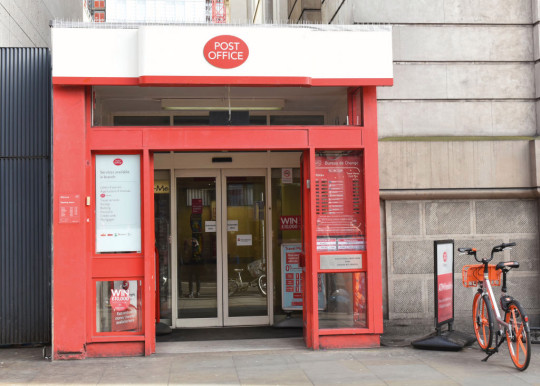 The Post Office branch and logo seen in London Bridge area.