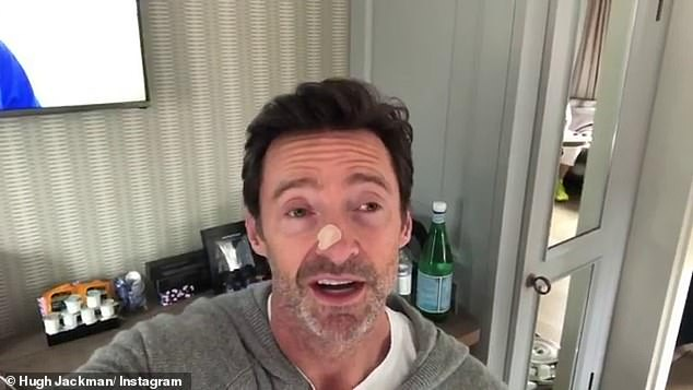 Support:The 46-year-old told his co-stars that he was having an issue investigated and was inspired by Hugh Jackman (picturted) who is an outspoken advocate for skin cancer checks