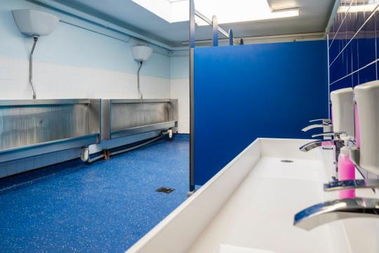 A school bathroom