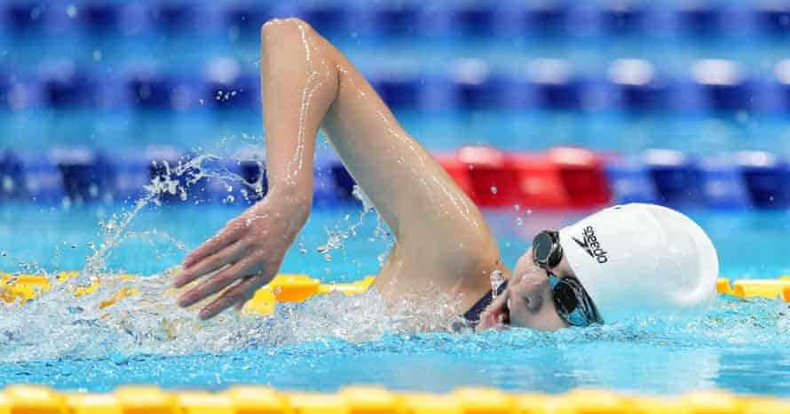 Ma Jia of China competes during the women's 200m individual medley SM11 final.