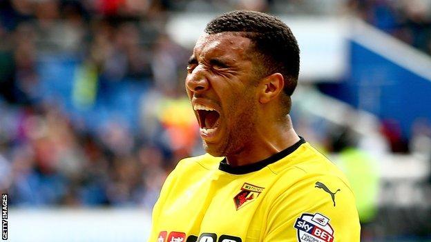 Deeney scored 21 goals to help Watford seal their Premier League return in 2015