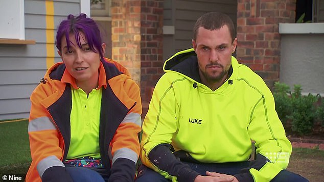 The best policy: Luke (right) said, 'Yeah, and then with the information, obviously I hadn't seen it, and then I've passed it on.' Tanya admitted that she could have kept the photo for her own advantage, but her honesty won over, saying: 'It's been a huge burden'