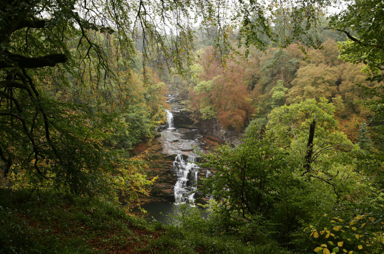 Best nature reserves A view of the Corra Linn waterfalls which is part of the Falls of Clyde, in New Lanark, Scotland.