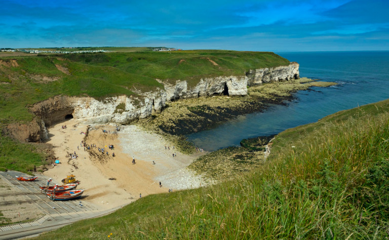 Best nature reserves The North Landing Flamborough Head North East Yorkshire UK July. (Photo by: Avalon/Universal Images Group via Getty Images)
