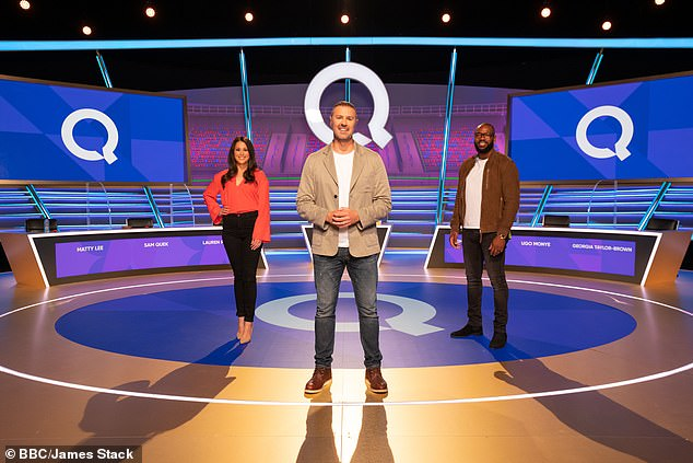 Coming soon: The outing comes as Sam admitted she feels 'a lot of responsibility' as the show's first ever female captain onA Question Of Sport ahead of joining Ugo Monye on the revamped panel