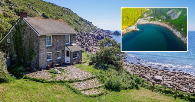 A privately owned cove in Cornwall is up for sale