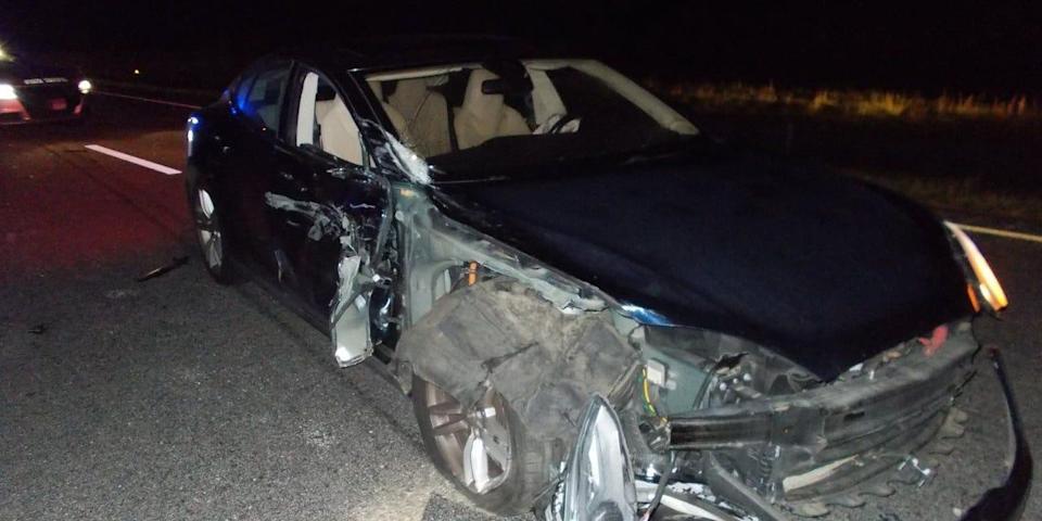 Tesla autopilot crash North Carolina