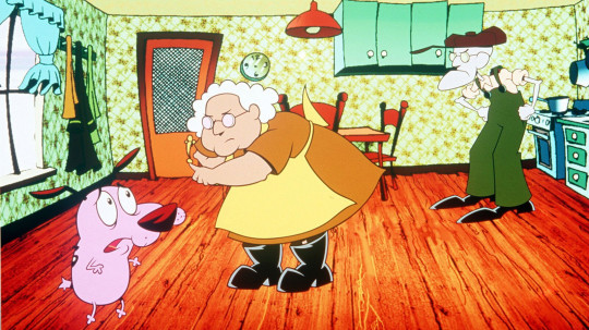 Thea White as Muriel in Courage the Cowardly Dog