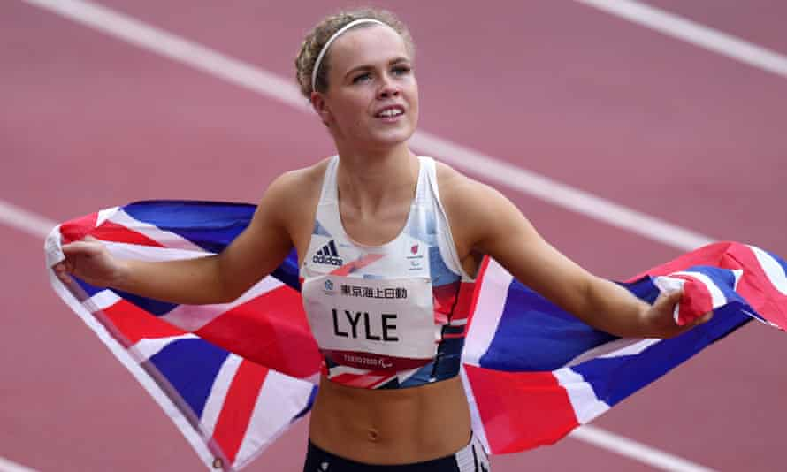 Britain's Maria Lyle claimed bronze in a competitive T35 100m race