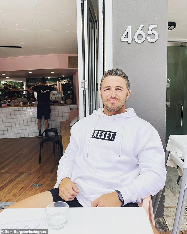 Career move: Former Rabbitohs star Sam Burgess is set to start a new job in 2022 as the head coach ofthe Orara Valley's Axemen, near Coffs Harbour on the NSW north coast