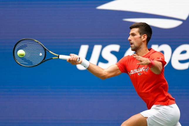 Novak Djokovic in the US open