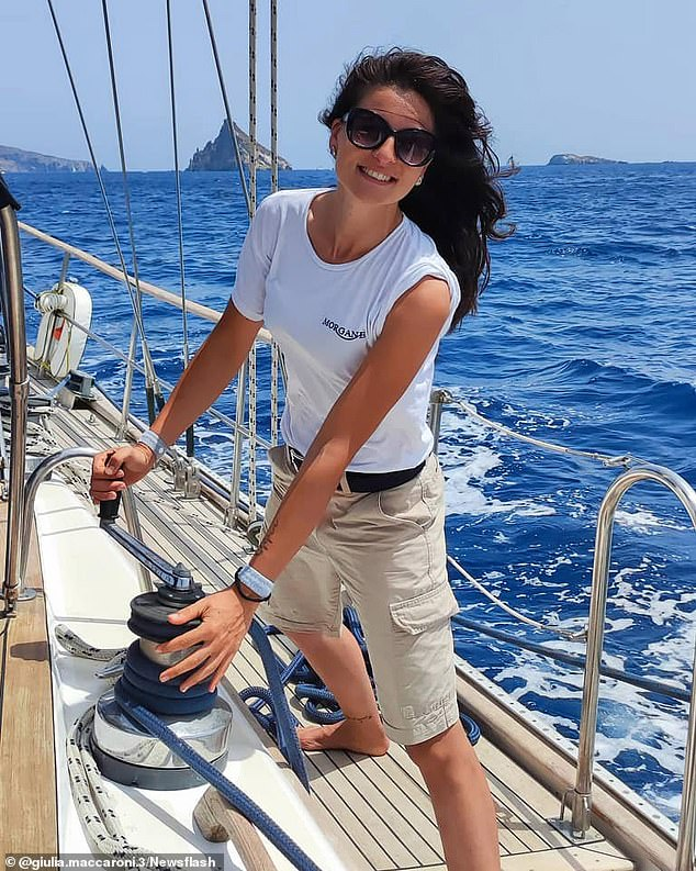 Italian stewardess Giulia Maccaroni has been found dead on a British sailboat after it caught fire while she was sleeping in Naples