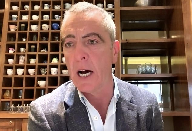 What's going on? James Nesbitt, 56, left fans confused after his appearance on Monday's The One Show as he made an appearance via videolink sporting very bizarre eyebrows