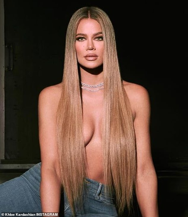 Bare facts: Khloe Kardashian went topless for her latest shoot for her brand Good American