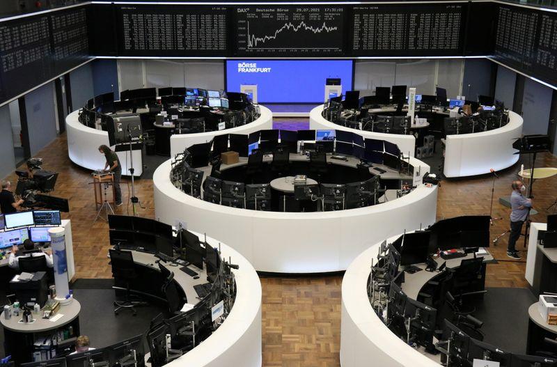 M&A rush, earnings power European stocks to new highs
