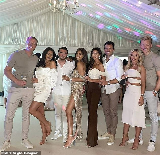 Party:Mark Wright, 33, and his wife Michelle Keegan, 34, stepped out in style on Saturday when they attended Mark's youngest sister Natalya's 21st birthday party in Essex