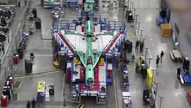 Timelapse shows production of X-59 Quiet SuperSonic aircraft