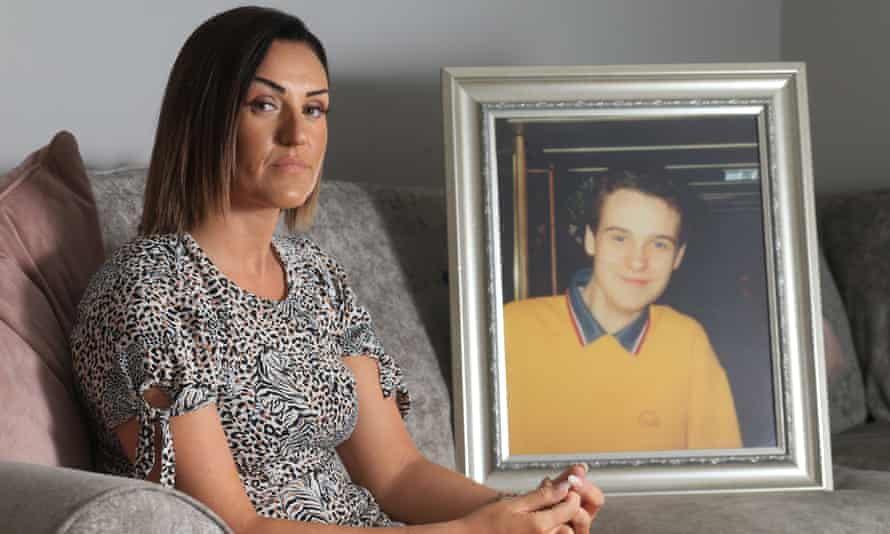 Claire Monteith with a picture of her brother Alan, who was killed in the bombing