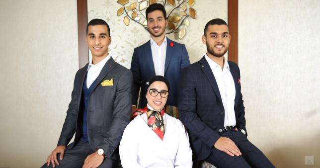 Quadruplets graduate from the same university