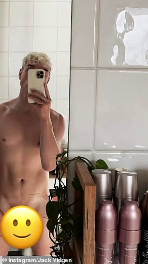 Woo!The singer posed completely naked in a bathroom mirror selfie shared to Instagram Stories