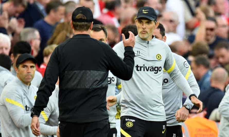 Thomas Tuchel appears to have an edge over Jürgen Klopp, his former colleague at Mainz.