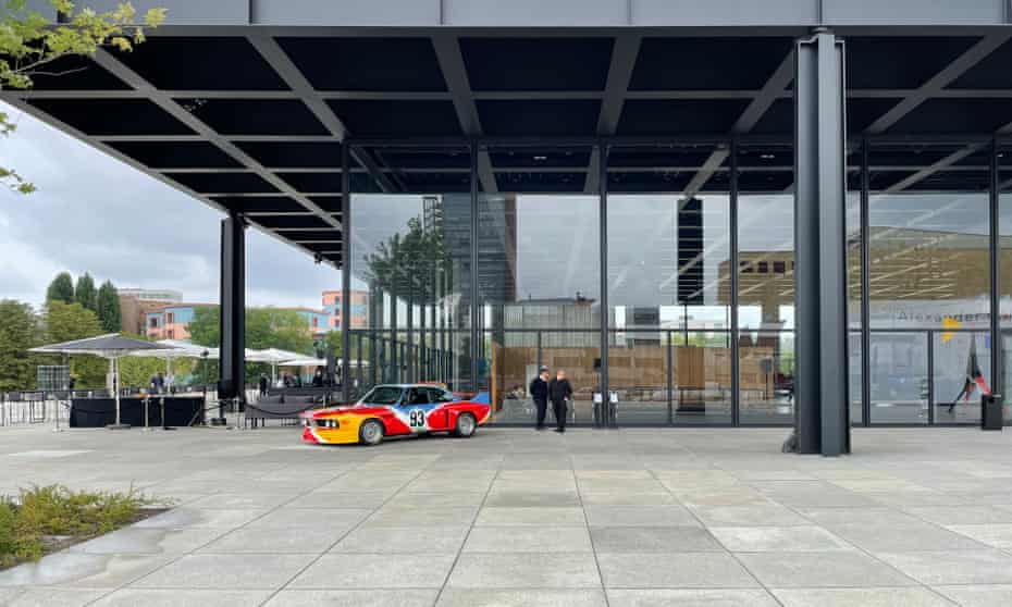 New panes from China … the gallery ahead of its reopening exhibition; Chipperfield was not allowed to alter its appearance.