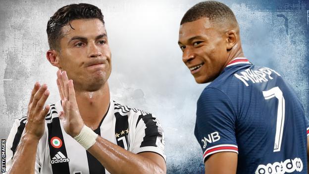 Cristiano Ronaldo and Kylian Mbappe