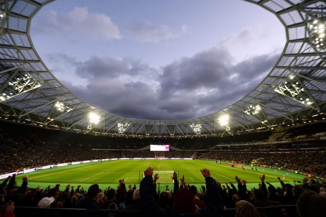 A Premier League match in a stadium
