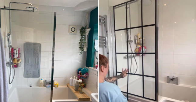 amy upcycling shower screen