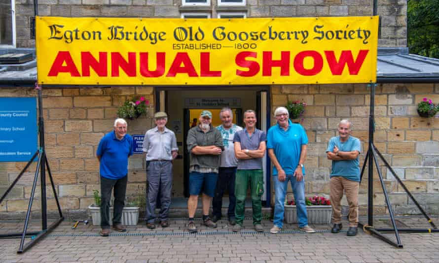 Setting up the night before the Egton Bridge gooseberry show, which was cancelled in 2020 due to the pandemic