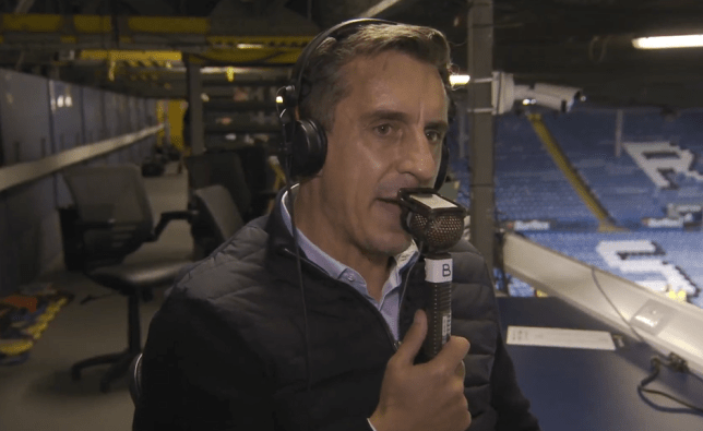 Gary Neville says Chelsea will be 'very difficult to stop' in Premier League title race