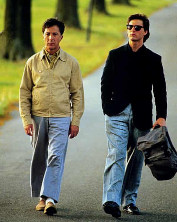 Groundbreaking in its time … Hoffman and Cruise in Rain Man.