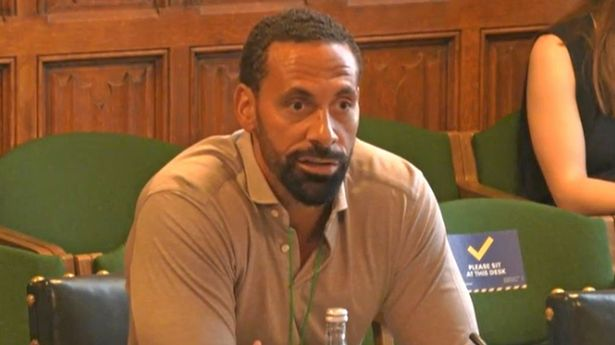 Rio Ferdinand giving evidence to joint committee seeking views on how to improve the draft Online Safety Bill designed to tackle social media abuse